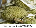 king of fruit in thailand also... | Shutterstock . vector #647204374