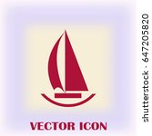 vector sail boat icon | Shutterstock .eps vector #647205820