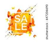 sale banner. season sale and... | Shutterstock . vector #647206690