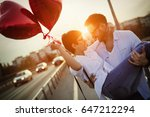 young couple in love dating and ... | Shutterstock . vector #647212294