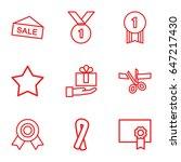 ribbon icons set. set of 9... | Shutterstock .eps vector #647217430