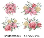 hand painted watercolor... | Shutterstock . vector #647220148