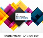corporate vector business... | Shutterstock .eps vector #647221159
