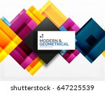 corporate business abstract... | Shutterstock . vector #647225539