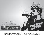 Silhouette Of A Rap Singer Fro...