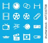 movie icons set. set of 16... | Shutterstock .eps vector #647233708