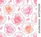 vector seamless pattern with... | Shutterstock .eps vector #647234104
