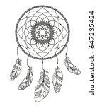 hand drawn dreamcatcher with...   Shutterstock .eps vector #647235424