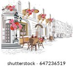 series of backgrounds decorated ... | Shutterstock .eps vector #647236519