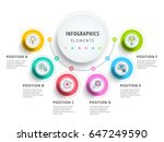 circle infographics elements... | Shutterstock .eps vector #647249590
