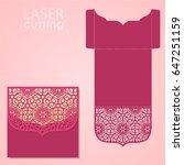 die laser cut wedding card... | Shutterstock .eps vector #647251159