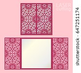 laser cut wedding invitation... | Shutterstock .eps vector #647251174