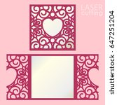 laser cut wedding invitation... | Shutterstock .eps vector #647251204