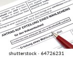 application for a voting paper... | Shutterstock . vector #64726231