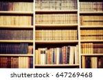blurred background bookshelf... | Shutterstock . vector #647269468