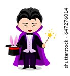 cartoon illusionist. cute...   Shutterstock .eps vector #647276014