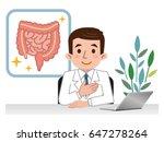 doctor explaining the large... | Shutterstock .eps vector #647278264