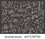set of hand drawn baby and... | Shutterstock .eps vector #647278750