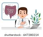 doctor explaining the large... | Shutterstock .eps vector #647280214