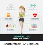running infographics set with... | Shutterstock .eps vector #647286028