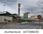 Small photo of GUATEMALA CITY - JULY 01, 2011: architecture, house, Buildings, cultural, simbols, concrete estructures, Plaza amate in zone 1, Guatemala City. EDITORIAL.