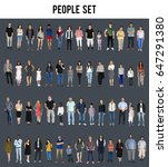 diversity people set gesture... | Shutterstock . vector #647291380