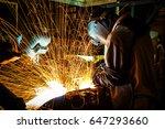 worker good welding technician... | Shutterstock . vector #647293660