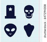 set of 4 horror filled icons...   Shutterstock .eps vector #647294308