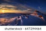 enisala fortress in winter ... | Shutterstock . vector #647294464