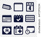 appointment icons set. set of 9 ... | Shutterstock .eps vector #647295154