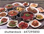 assorted cuisine | Shutterstock . vector #647295850