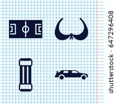 set of 4 sport filled icons... | Shutterstock .eps vector #647296408