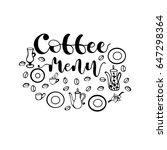 "hand drawn lettering ""coffee... 