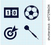 set of 4 goal filled icons such ... | Shutterstock .eps vector #647298634