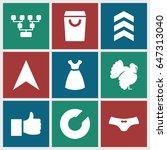 outline icons set. set of 9... | Shutterstock .eps vector #647313040