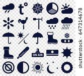 Weather Icons Set. Set Of 25...