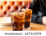 double cool ice soft drink cola ... | Shutterstock . vector #647315599