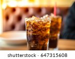 double cool ice soft drink cola ... | Shutterstock . vector #647315608