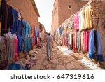 a traveller walking in a street ...   Shutterstock . vector #647319616