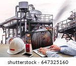 engineering industry concept in ... | Shutterstock . vector #647325160