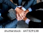 close up.business group people... | Shutterstock . vector #647329138