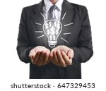 hands of business person... | Shutterstock . vector #647329453