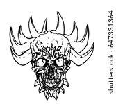 apocalyptic demon skull with...   Shutterstock .eps vector #647331364