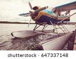 seaplane in alaska.   Shutterstock . vector #647337148
