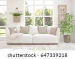 white room with sofa and green... | Shutterstock . vector #647339218