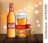 promotion light beer. realistic.... | Shutterstock .eps vector #647342980