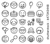 happiness icons set. set of 25...   Shutterstock .eps vector #647343448
