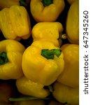 yellow pepper background   Shutterstock . vector #647345260