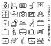 suitcase icons set. set of 25... | Shutterstock .eps vector #647346334