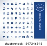 medical icon set clean vector | Shutterstock .eps vector #647346946